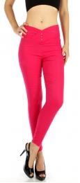 wholesale B04 V-shaped waist cotton jeggings Hot pink M